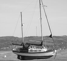 Lugger on the Sandbar by Graham Povey