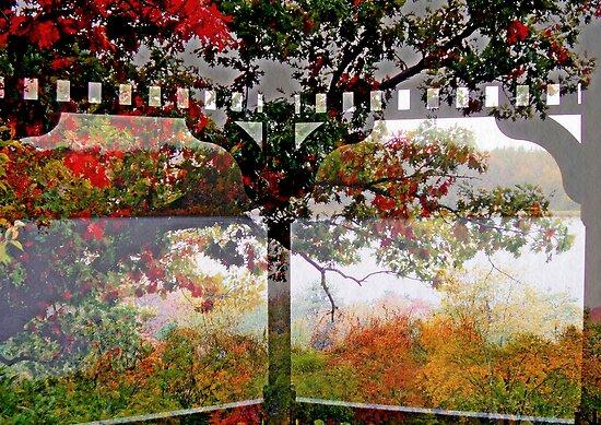 Rainy Fall Day   from The Gazebo  by Rick  Todaro