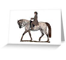 Appaloosa Saddleseat Horse Portrait Greeting Card
