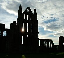 Whitby Abbey Silhouette by dougie1page2