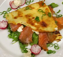 Potatoe Crêpes and Salmon by SmoothBreeze7