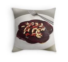 Red Beetroot With Pink Pepper and Pine Nut Vinaigrette Throw Pillow