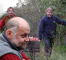 I and my brothers in my apples plantation by Antanas