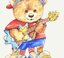Fitztown Teddyworld rockstar by morgansartworld