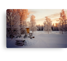 Mother's Yard - Old Homestead in Lapland Finland Canvas Print