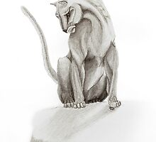Mountain Lion Greeting Card by Jen Pratt