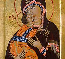 Theotokos of Vladimir by Ivana Vuckovic