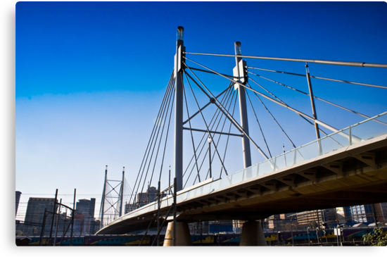 Nelson Mandela Bridge — Suspension Bridge & Walkway by RatManDude