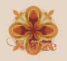 Kidult T shirt Blaze Compound Circles Antispin orange by Kidult