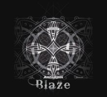 Kidult T shirt Blaze Compound Circles Antispin white on black by Kidult
