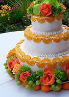 garden wedding cake by tego53