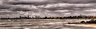 Grey Melbourne Day Panorama by Jason Ruth