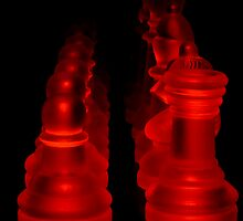 Red Chess by Rob Beckett