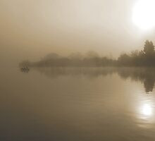 Fishing in the Morning Mist by hybaby
