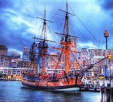 HMB Endeavour replica - HDR by Michael Patsalou