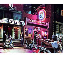 Vics Hwy 40 Cocktail Lounge Sign Photographic Print