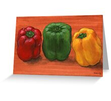 Bell Pepper Trio  Greeting Card