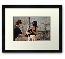 Girls and Gadgets Framed Print