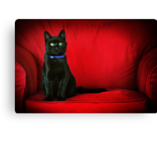 Black in Red Canvas Print