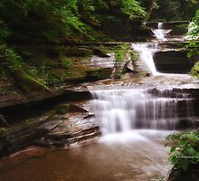 Ithaca's Buttermilk falls X by PJS15204