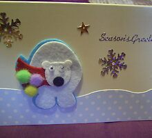Handmade polarbear card - as requested by anaisnais