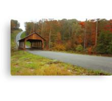 Catoosa Ridge covered bridge Canvas Print
