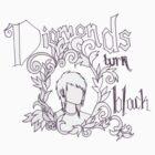 diamonds turn black by blackenediamond
