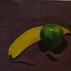 banana and green apple by DiJin