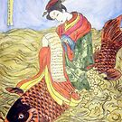 Geisha Rides Koi Through The Waves by Alexandra Felgate