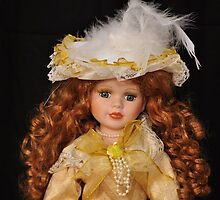 Doll with feathered hat by mltrue