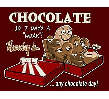Chocolate - Thursday is any chocolate day Photographic Print