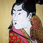 Japanese Man with Falcon by Alexandra Felgate