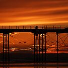 Sunset at Saltburn by Jon Tait
