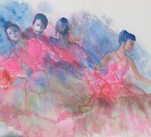 Latin Dancers by Doris Currier