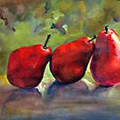 Delicate Balance-Pears with grape leaves by jimmie