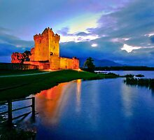 Ross Castle at Night by John Walsh, IRELAND