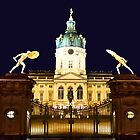 Charlottenburg at night Berlin Germany by pdsfotoart