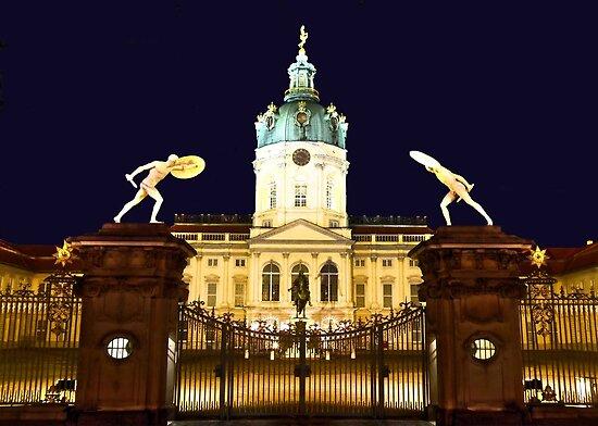 Charlottenburg at night Berlin Germany by pdsfotoart