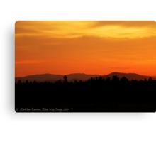 Valley Sunset Canvas Print