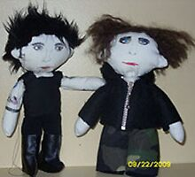 Simon Gallup & Robert Smith doll from The Cure by PerfectBlueSky