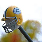 Green Bay Packer Helmet by Benjamin Sloma