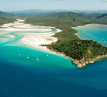Tongue Point and Hill Inlet Whitsundays by Janette Rodgers