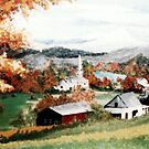 Village in Vermont by Sandy Sparks