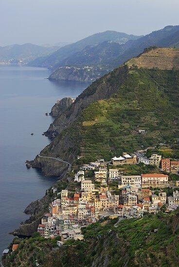 Riomaggiore and Cinque Terre National Park by Petr Svarc