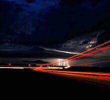 Lightning Road Truckers by Jeremy  Jones