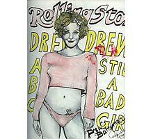 Bad Girl Drew ( With Lipstick ) Photographic Print