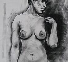Spanish girl - life drawing session by Mick Kupresanin