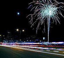 Coors Field Fireworks July 3 by greg1701