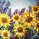 """""""Sunflowers"""" - oil painting by Avril Brand"""