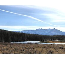 Fall Mountain Meadow With A View Photographic Print